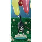 STATUETTE CHAT JOYEUX ANNIVERSAIRE COMIC CURIOUS CATS