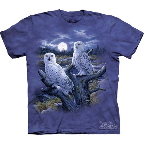 TEE SHIRT CHOUETTES DES NEIGES