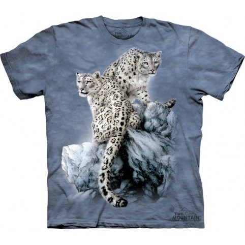 TEE SHIRT LEOPARDS DES NEIGES