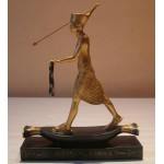 FIGURINE PHARAON CHASSEUR OR
