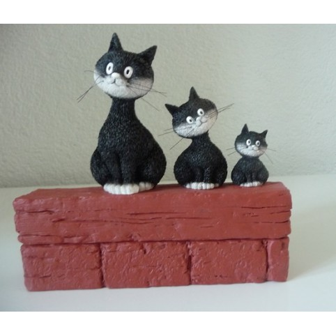 FIGURINE CHAT DUBOUT LE TRIO
