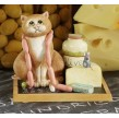 FIGURINE CHAT GOURMAND COMIC CURIOUS CATS