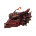 BOUGEOIR DRAGON ROUGE