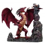 STATUETTE MERLIN ET SON DRAGON