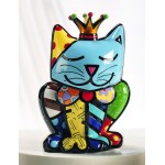 FIGURINE CHAT ROYAL DESIGN - ROMERO BRITTO