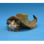 FIGURINE CHAT GINA SOUS CHAPEAU