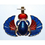 PENDENTIF SCARABEE BLEU