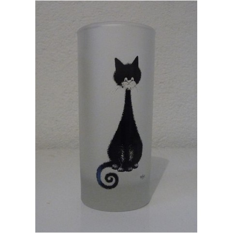 VERRE CHAT DUBOUT SPIRALE
