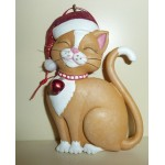 DECORATION NOEL CHAT MARRON