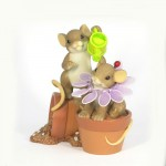 FIGURINE SOURIS CHARMING TAILS CULTIVE AMITIE