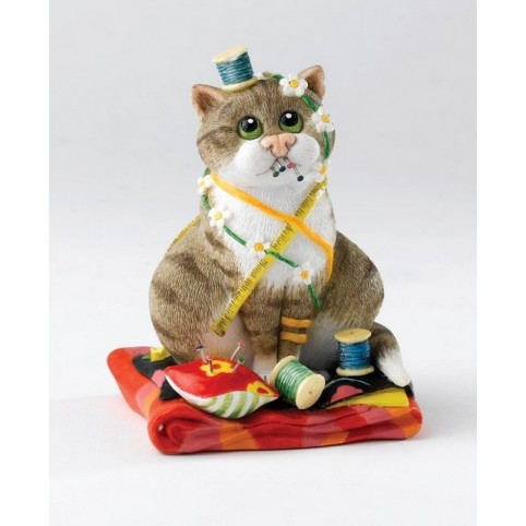 FIGURINE CHAT COUTURIERE COMIC CURIOUS CATS