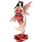 FIGURINE FEE SUR ROSE
