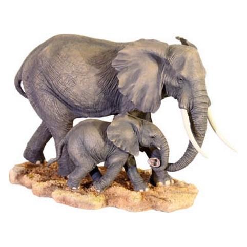 STATUETTE ELEPHANT ET SON PETIT