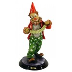STATUETTE CLOWN AVEC ACCORDEON