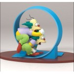 FIGURINE SIMPSONS : HOMER ET KRUSTY