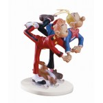 STATUETTE SPIROU, FANTASIO ET SPIP PATINENT LEBLON DELIENNE