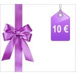 Chèque cadeau 10 €