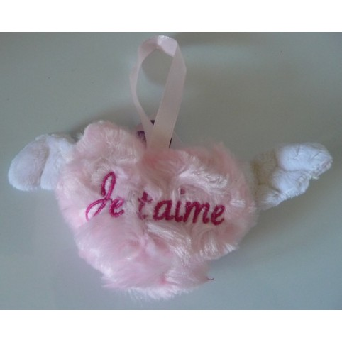 COUSSIN COEUR ROSE JE T'AIME