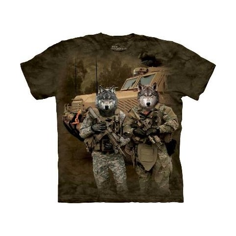 TEE SHIRT LOUPS MILITAIRES