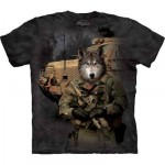 TEE SHIRT LOUP MILITAIRE