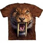 TEE SHIRT TIGRE A DENTS DE SABRE