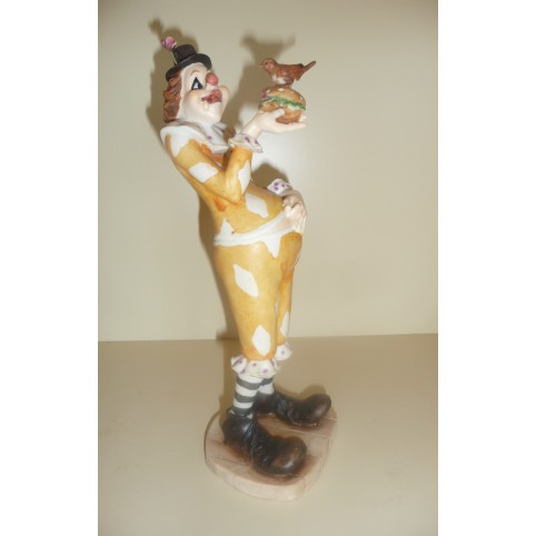 MINI STATUETTE CLOWN AVEC COLOMBE