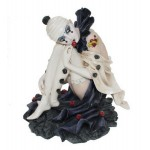 MINI STATUETTE CLOWN ARLEQUIN ASSISE