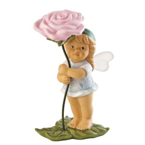 FIGURINE FEE AVEC ROSE