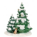 FIGURINE SAPIN DE NOEL AVEC LAPIN