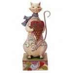 FIGURINE CHAT COZY HEART HEARTWOOD CREEK