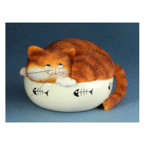FIGURINE CHAT FAT CAT