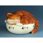 FIGURINE CHAT FAT CAT