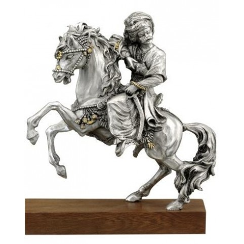 FIGURINE OFFICIER MAMELUCK A CHEVAL ETAINS DU PRINCE