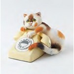 FIGURINE CHAT AVEC TELEPHONE