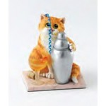 FIGURINE CHAT COCKTAIL - COMIC CURIOUS CATS