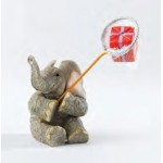 FIGURINE ELEPHANT TUSKER LOVE IS A CATCH FOR YOU
