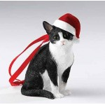DECORATION A SUSPENDRE CHAT NOIR ET BLANC