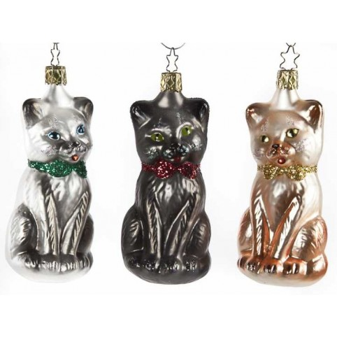 DECORATION NOEL CHATS LOT DE 3