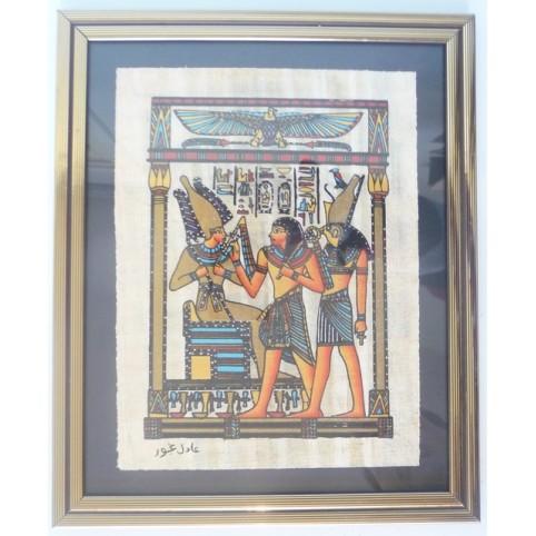 PAPYRUS EGYPTIEN ENCADRE