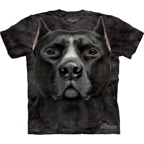 TEE SHIRT PITBULL NOIR