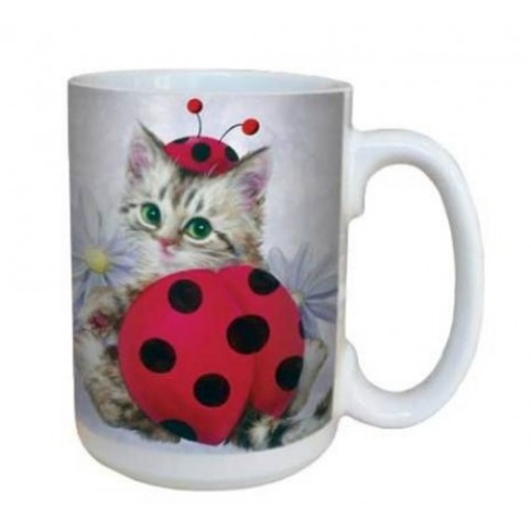 MUG CHAT COCCINELLE