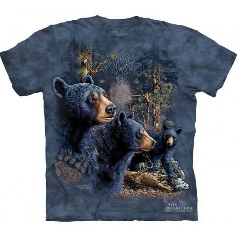 TEE SHIRT ENFANT OURS NOIRS TROUVEZ 13 OURS