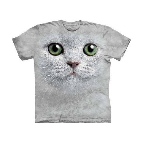 TEE SHIRT ENFANT CHAT YEUX VERTS