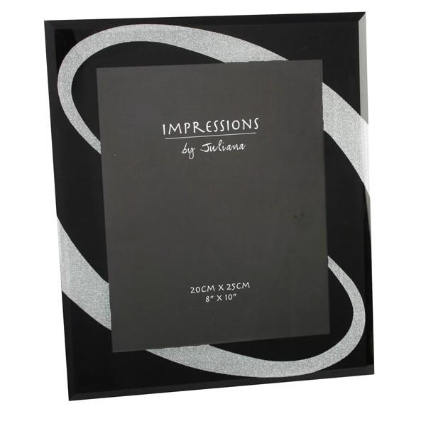 cadre photo noir et argent