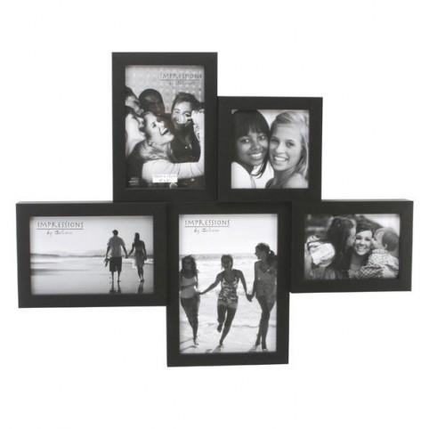 pele mele 5 photos noir. Black Bedroom Furniture Sets. Home Design Ideas