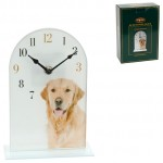 PENDULE VERRE GOLDEN RETRIEVER