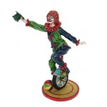 STATUETTE CLOWN MONOCYCLE