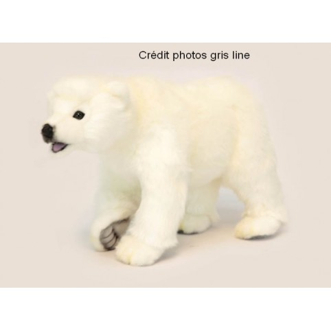 PELUCHE OURS POLAIRE A 4 PATTES ANIMA