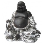 STATUETTE BOUDDHA ARGENTE ASSIS