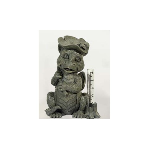 STATUETTE DRAGON AVEC THERMOMETRE